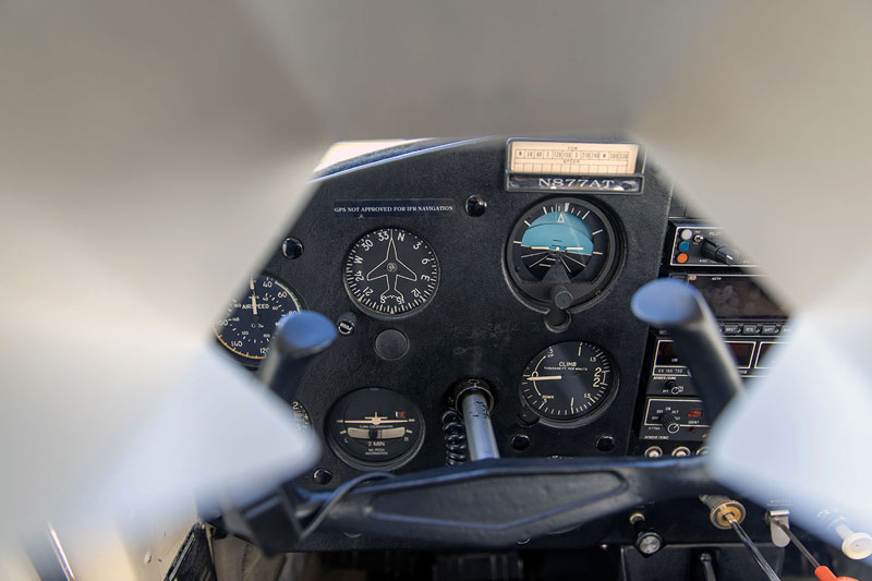 IFR hood instrument panel view